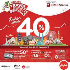 airasia travel fair discount up to 40 off airasia travel fair at lippo mall kuta