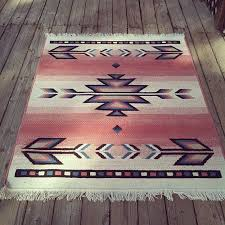 vintage pink southwest inspired wool area rug native american
