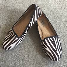 ugg womens alloway shoes zebra 67 ugg shoes ugg alloway brown ivory zebra flats