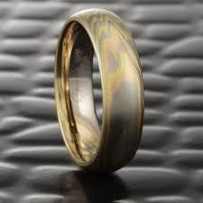 18k white gold wedding band terra 18k tri colored mokume men s wedding band steven jacob