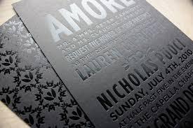 and black wedding invitations wedding invitations metallic foil sting black silver
