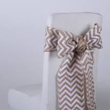 Burlap Chair Sash White Chevron Burlap Chair Sashes Bbcrafts Wholesale Ribbon
