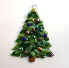 fused glass tree ornament suncatcher 14 00 via etsy
