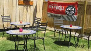 Beer Garden Tables by The Duck Pond Eatery And Beer Garden Christmas Michigan