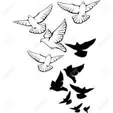 drawing of birds flying line drawings of birds in flight clipart