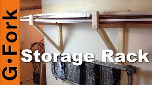 diy storage racks for garage or basement gardenfork youtube
