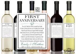 Wine Wedding Gift Custom Marriage Milestones Wine Labels U0026 Champagne Labels