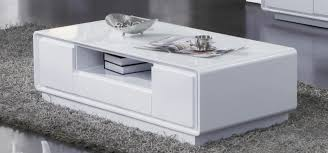 Contemporary White Coffee Table by American Eagle Ct C523 Modern White Coffee Table Drawers Large