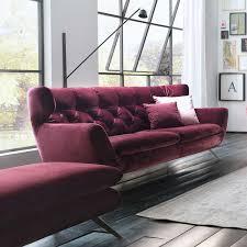 couch 3 sitzer sofa 3 sitzer samt 60er stil 225cm in 15 farben