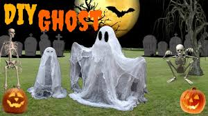how to make a spooky floating cheesecloth ghost with a balloons
