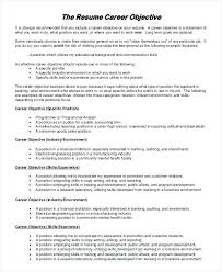 Caregiver Objective Resume Sample Job Objective For Resume Resume Career Objective Resume