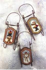 foxwood crossings sled ornaments snow grateful the patchwork