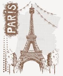sketch eiffel tower in paris france vector illustration in