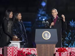 national christmas tree lighting 2016 barack and michelle obama light national christmas tree for the
