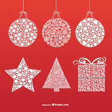 ornaments with snowflakes and vector free