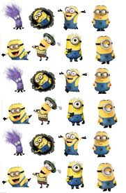 edible minions minions edible stand up wafer paper cupcake toppers