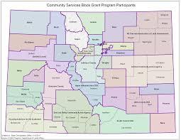 Map Of Counties In Colorado by Community Services Block Grant Csbg Colorado Department Of