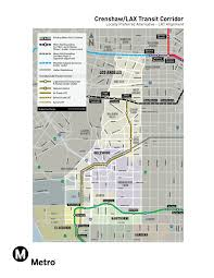 La Airport Map Connecting The Crenshaw Lax Transit Corridor To The Airport The