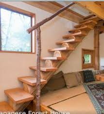 half log stairs with custom railing my future backyard
