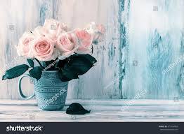 valentines home decor home decor valentines day pink rose stock photo 571554082