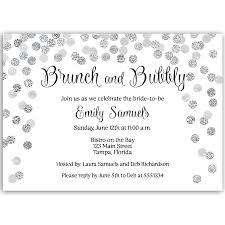 brunch bridal shower invitations brunch and bubbly silver bridal shower invitation the invite