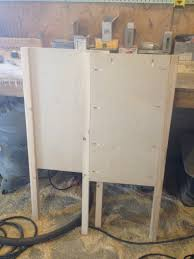 diy console cabinet with open shelf