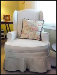 Wing Chair Slipcover Pattern No Sew Slip Cover Love Sewing Love Not Sewing Even More