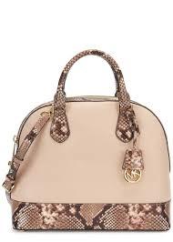 light pink michael kors bag lyst michael kors smythe blush leather shoulder bag in pink