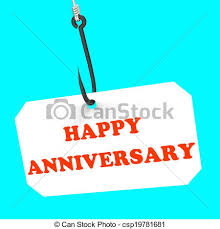 happy anniversary on hook meaning celebration stock