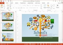 sample education power point templates notebook education