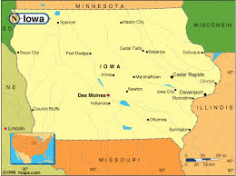 iowa map with cities map of iowa