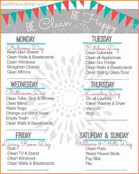 House Cleaning List Template Weekly House Cleaning Schedule Sales Report Template