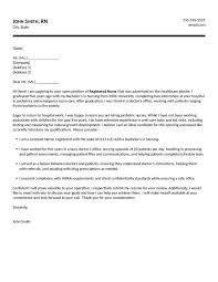 nursing cover letter registered cover letter new graduate resume template