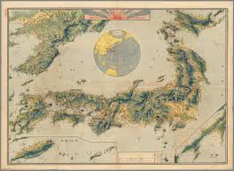 World Map Japan by Bird U0027s Eye View Map Of Japan 1921 Map Japan Korea Nippon