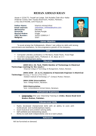 microsoft word resume template free resume format in word 2007 and ms word resume