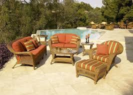 Coast Outdoor Furniture by Coast Charleston 4 Piece Custom Outdoor Walnut Wicker Patio