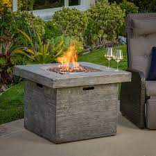 Firepit Rocks Vermont Outdoor 32 Inch Square Liquid Propane