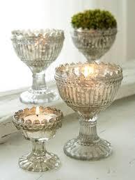 vintage tea light holders vintage glass tealight holders mercury silvered vintage love