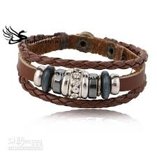 leather ladies bracelet images Beautiful real leather bracelets multilayer brown leather jpg
