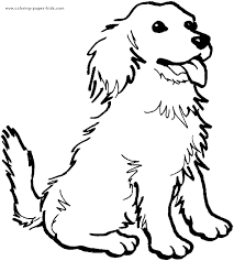 Happy Dog Color Page Dogs Coloring Pages