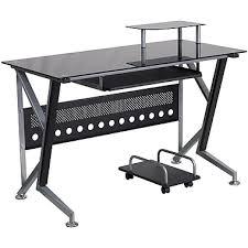 Black Glass Computer Desks For Home Computer Desks Corner Desks Office Desks Staples