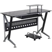 Glass And Metal Corner Computer Desk Multiple Colors Computer Desks Corner Desks Office Desks Staples