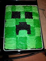 minecraft creeper cake birthday party ideas cakepins com austin