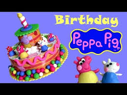 play doh peppa pig birthday cake dough tarta de cumpleaños bolo