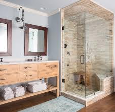 amazing frameless shower door interior designs with blue glass