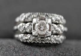 Art Deco Wedding Rings by Shopping For Art Deco Wedding Ring Sets Lovetoknow