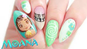 disney u0027s moana nail art design tutorial youtube