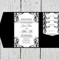 diy wedding invitations templates pocket wedding invitation templates set from graphicartdesign