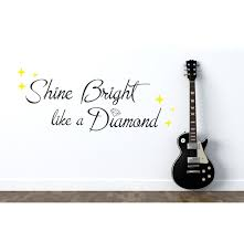 Wall Art Quotes Stickers Bright Like A Diamond Rihanna Vinyl Wall Art Quote Sticker Song