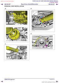 ford kuga 2011 1 g workshop manual